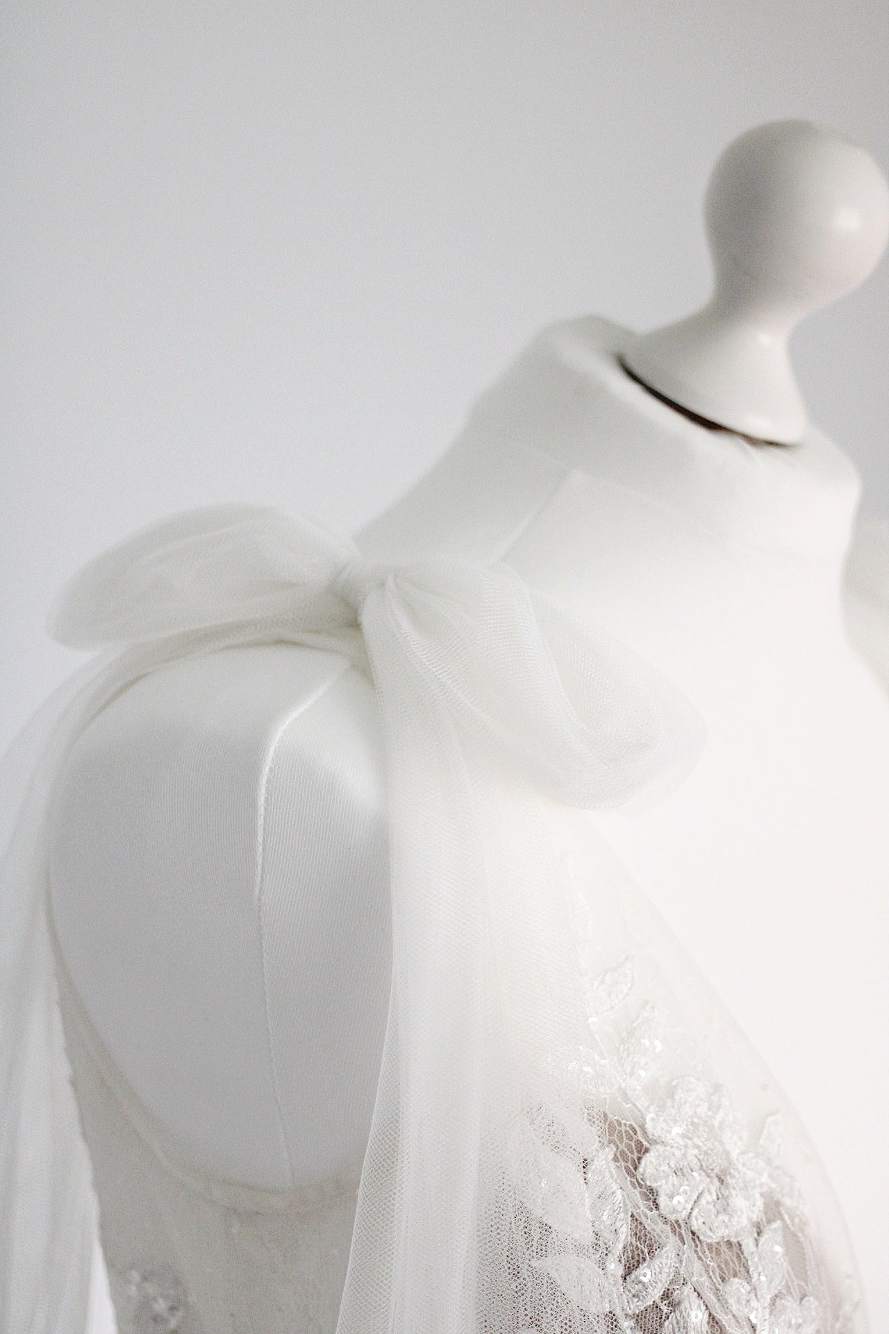 Detachable bows | tulle shoulder bows