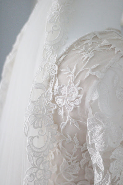 REDEFINED | statement soft lace trimmed veil