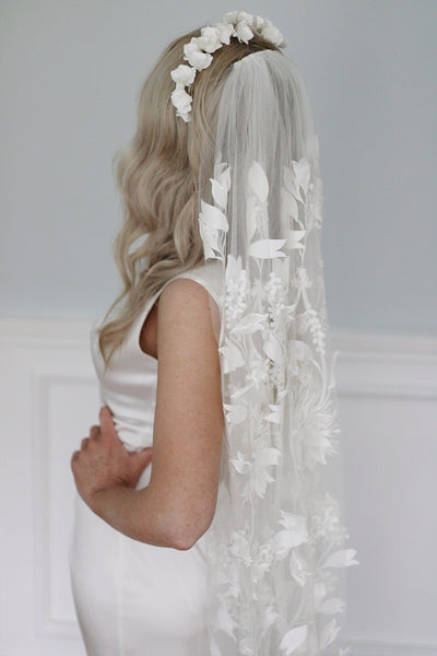 MAJESTIC | statement 3d embroidered veil