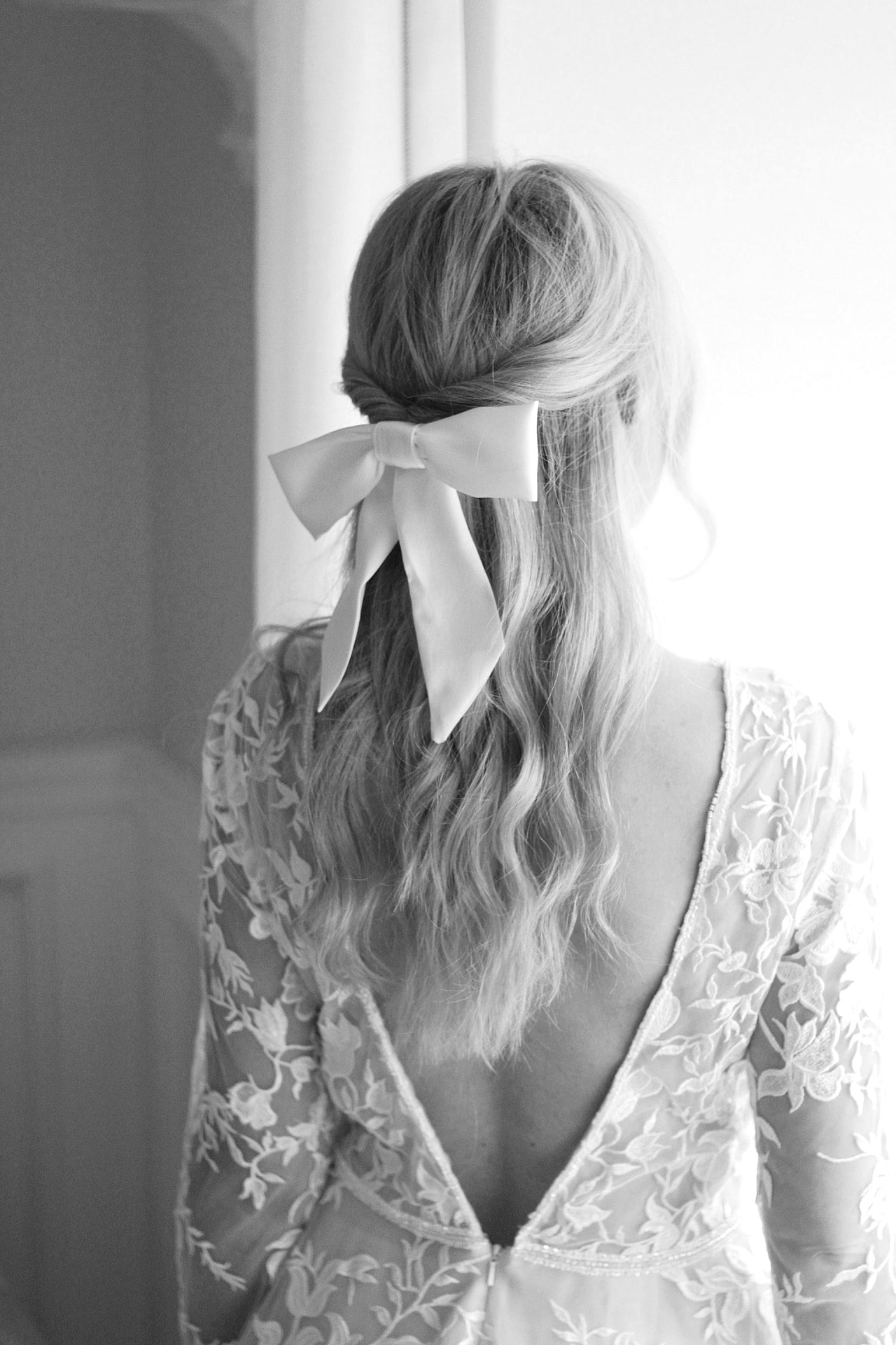 luxury silk bridal hair bow