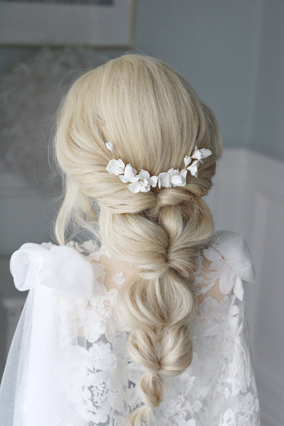 luxury handmade clay bridal comb for bride