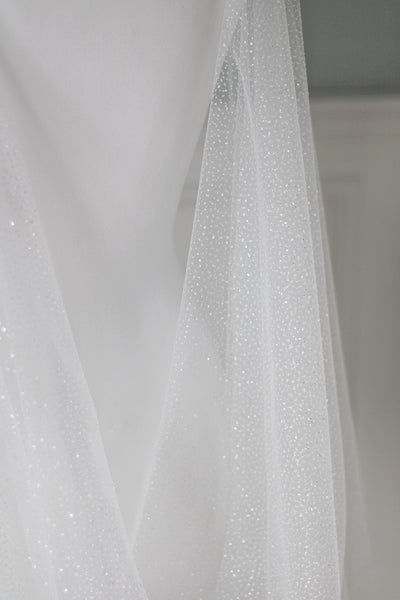 SPARKLE wedding dress cape