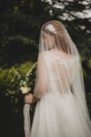 FRENCH SILK TULLE | drop chapel veil