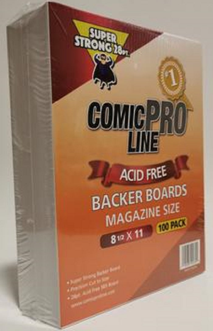 "Magazine Sized Comic Book Boards 100  8 1/2"" x 11"""