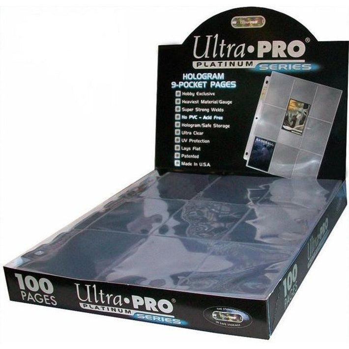 Ultra Pro 9 Pocket Platinum Pages 100