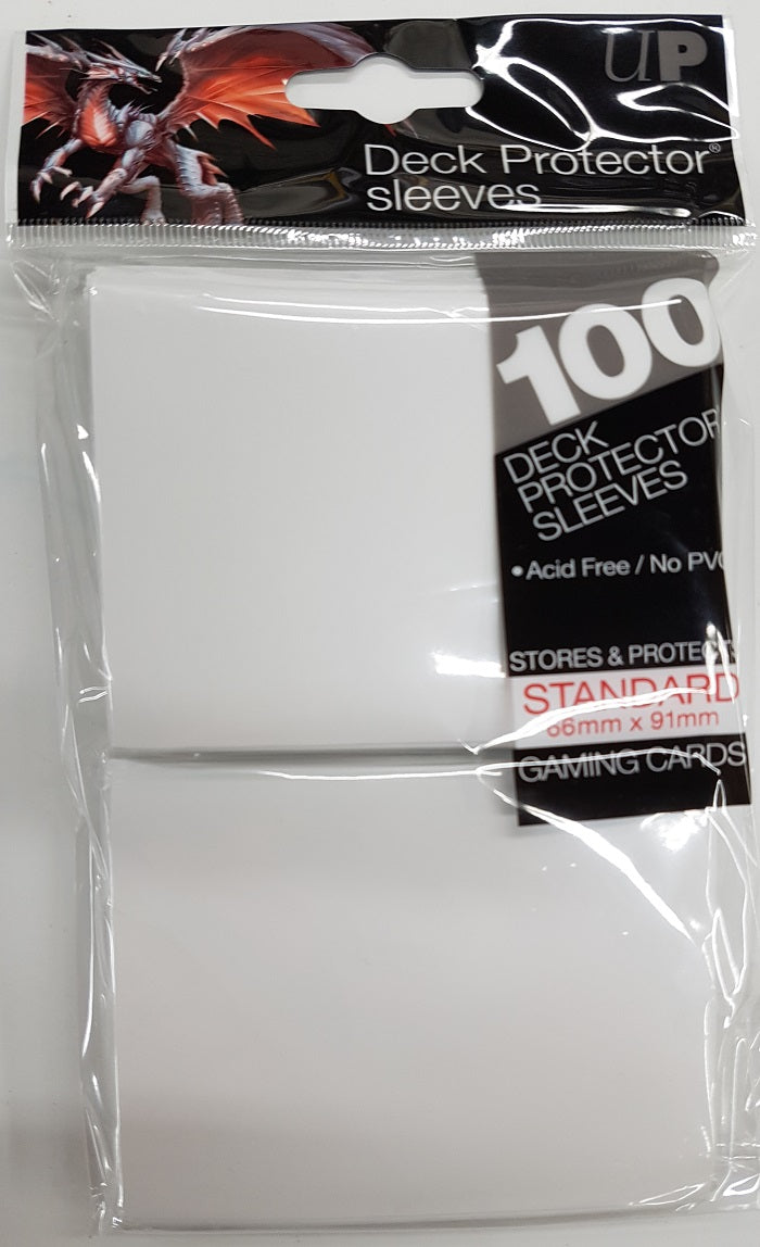Deck Protector White Card Sleeves 100 Standard Size