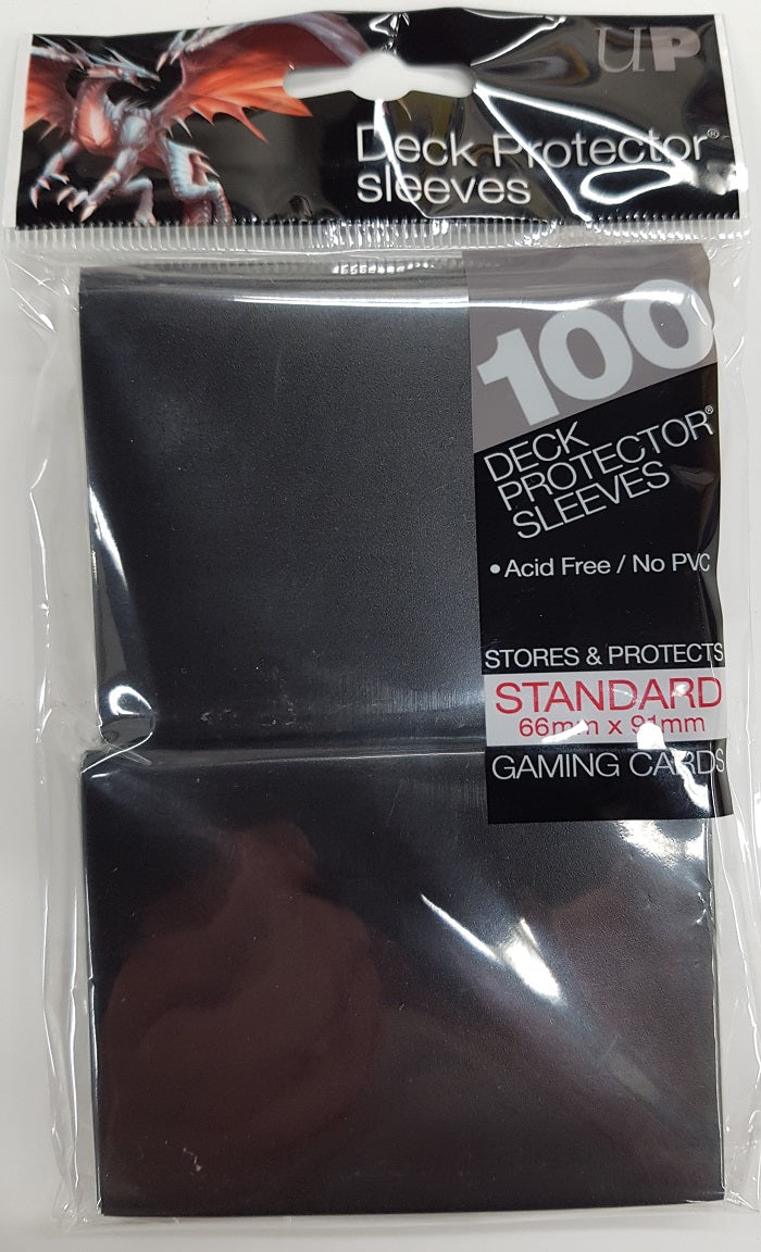 Deck Protector Black Card Sleeves 100 Standard Size