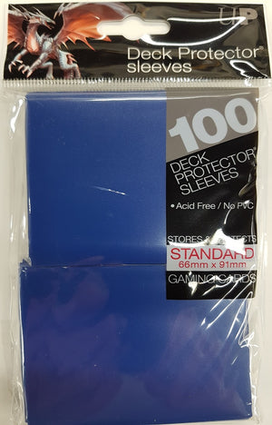 Deck Protector Blue Card Sleeves 100 Standard Size