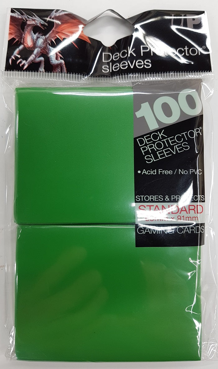 Deck Protector Green Card Sleeves 100 Standard Size