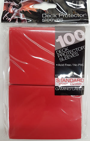 Deck Protector Red Card Sleeves 100 Standard Size