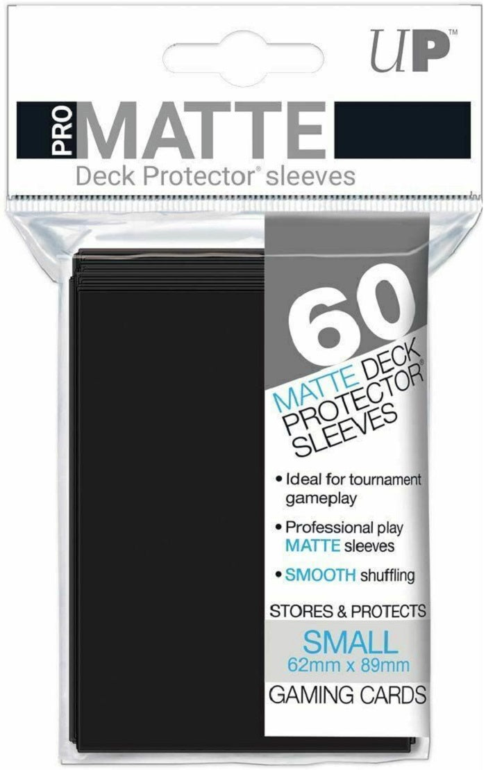 Deck Protector Pro Black Matte Card Sleeves 60 Small Size