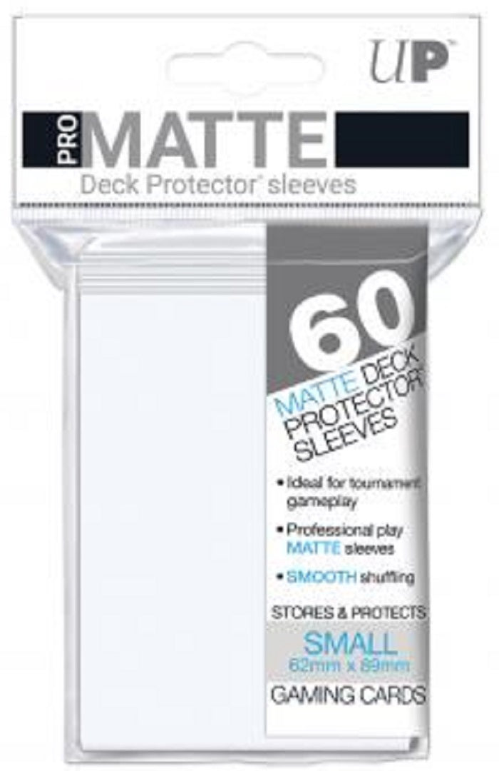 Deck Protector Pro White Matte Card Sleeves 60 Small Size