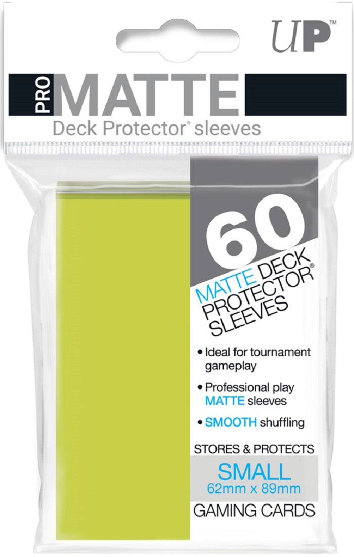 Deck Protector Pro Bright Yellow Matte Card Sleeves 60 Small Size