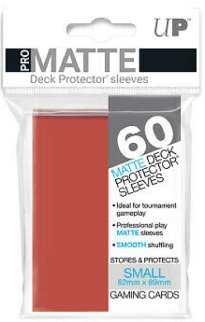 Deck Protector Pro Red Matte Card Sleeves 60 Small Size