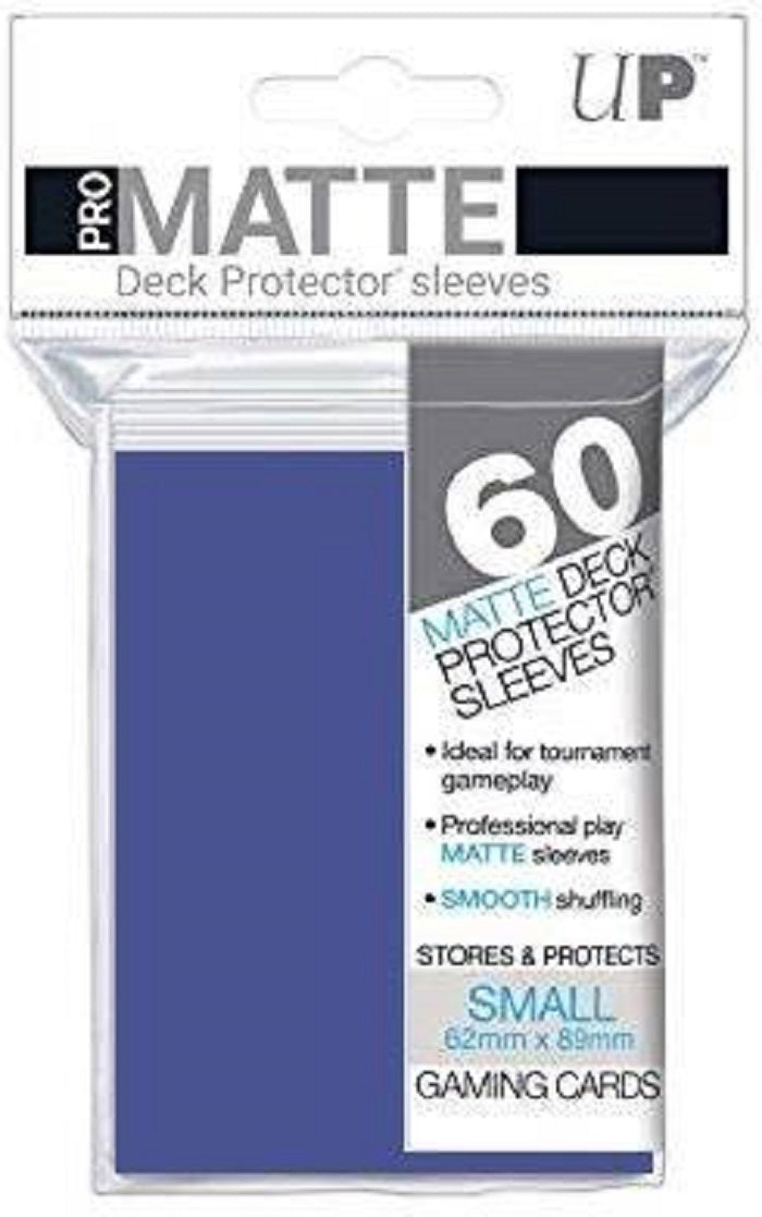 Deck Protector Pro Blue Matte Card Sleeves 60 Small Size | Game Master's Emporium (The New GME)