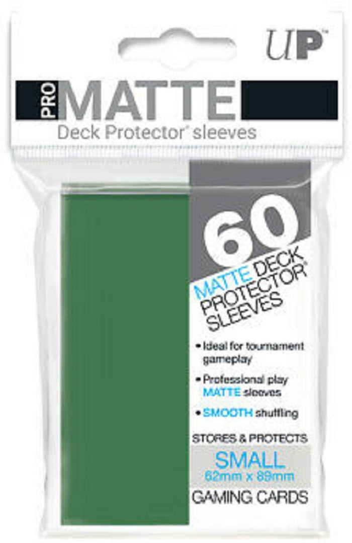 Deck Protector Pro Green Matte Card Sleeves 60 Small Size