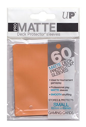 Deck Protector Pro Orange Matte Card Sleeves 60 Small Size