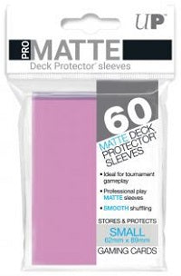Deck Protector Pro Pink Matte Card Sleeves 60 Small Size