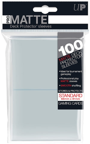 Deck Protector MATTE Clear Card Sleeves 100 Standard Size