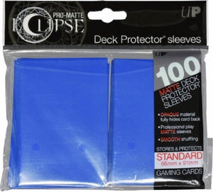 Eclipse Deck Protector Blue Matte Card Sleeves 100 Standard Size