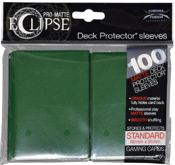 Eclipse Deck Protector Green Matte Card Sleeves 100 Standard Size | Game Master's Emporium (The New GME)