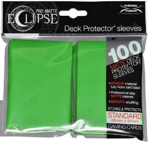 Eclipse Deck Protector Lime Green Matte Card Sleeves 100 Standard Size