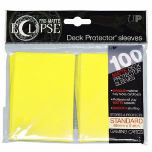 Eclipse Deck Protector Lemon Yellow Matte Card Sleeves 100 Standard Size