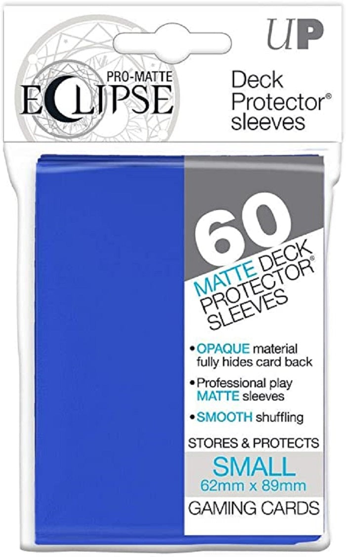 Eclipse Deck Protector Blue Matte Card Sleeves 60 Small Size | Game Master's Emporium (The New GME)