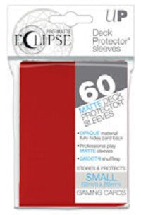 Eclipse Deck Protector Red Matte Card Sleeves 60 Small Size