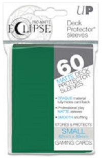 Eclipse Deck Protector Green Matte Card Sleeves 60 Small Size