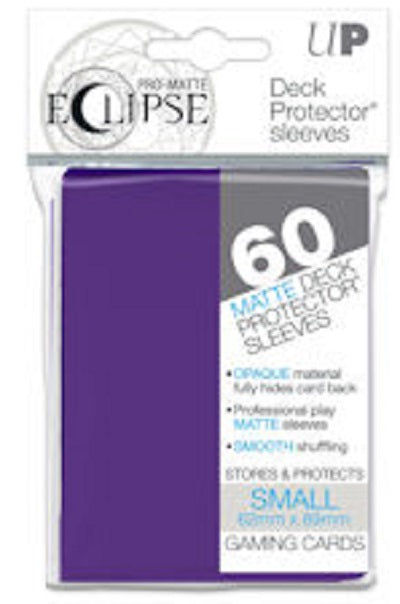 Eclipse Deck Protector Purple Matte Card Sleeves 60 Small Size
