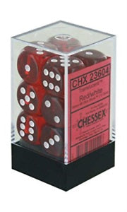 Chessex 12d6 Red Translucent 16mm Dice