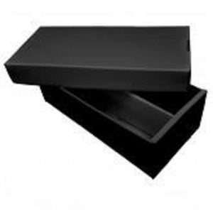 "1600 count BLACK PLASTIC ""SHOE"" CARD BOX"