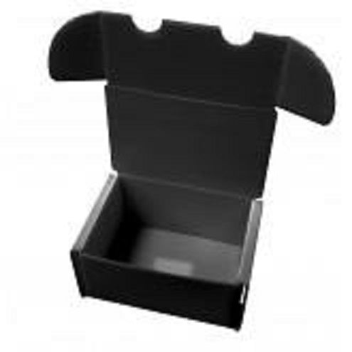 300 count BLACK PLASTIC CARD BOX (Lot of 5) | Game Master's Emporium (The New GME)