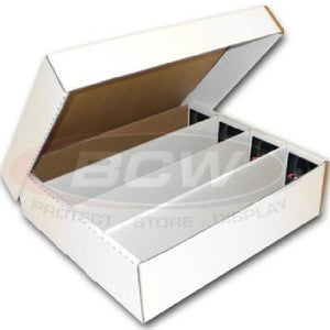 "3200 count CARDBOARD ""4 Row"" CARD BOX"