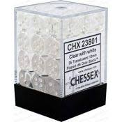 Chessex 36d6 Clear Translucent 12mm Dice