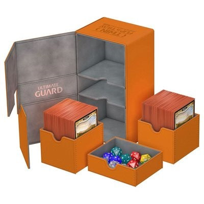 Twin Flip and Tray Xenoskin Deck Case Orange 200+ | Game Master's Emporium (The New GME)