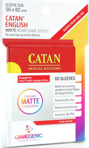 Catan Board Game Sleeves Matte 56mm x 82mm