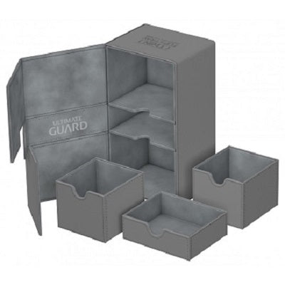 Twin Flip n' Tray Xenoskin Deck Case Grey 200+ | Game Master's Emporium (The New GME)
