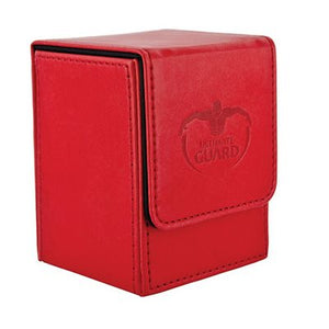 Flip Deck Case Leatherette Red 100+