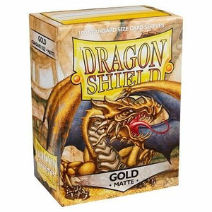 Dragon Shield Matte Gold Sleeves Japanese Sized 60