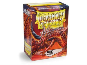 Dragon Shield Matte Red Sleeves 100