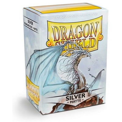Dragon Shield Matte Silver Sleeves 100