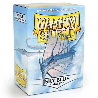 Dragon Shield Matte Sky Blue Sleeves 100