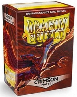 Dragon Shield Matte Crimson Sleeves 100