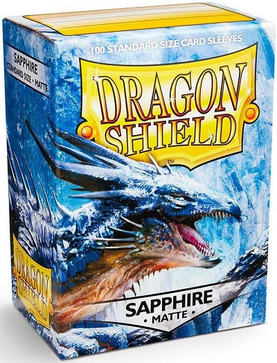 Dragon Shield Matte Sapphire Sleeves 100