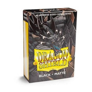 Dragon Shield Matte Black Sleeves Japanese Sized 60