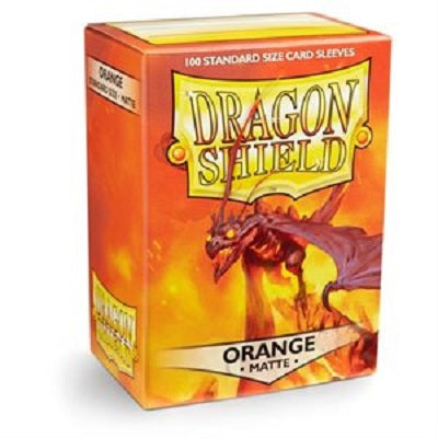 Dragon Shield Matte Orange Sleeves 100