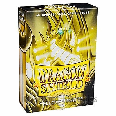 Dragon Shield Matte Yellow Sleeves Japanese Sized 60