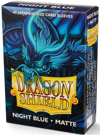 Dragon Shield Matte Night Blue Sleeves Japanese Sized 60